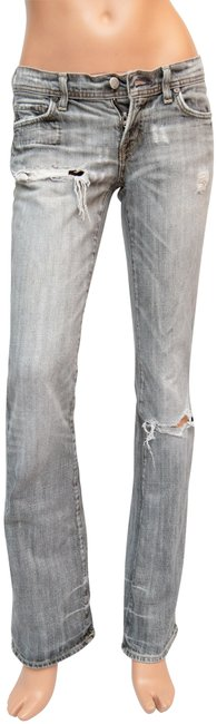 Item - Grey Distressed Boot Cut Jeans Size 26 (2, XS)