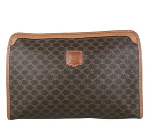 Céline Macadam Pouch Monogram Brown Clutch