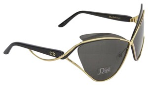 Dior CHRISTIAN DIOR AUDACIEUSE 1 Black Gold Fashion Cat Eye OVERSIZED