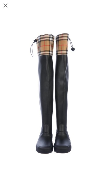Item - Black Vintage Check Over-the-knee Boots/Booties Size US 6 Regular (M, B)