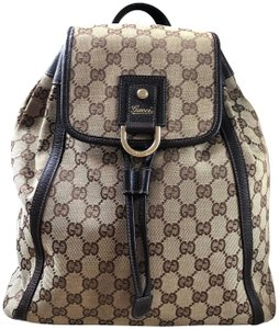 Gucci Made In Italy Gg Supreme Monogram Leather Backpack