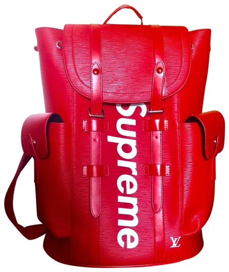 Preload https://img-static.tradesy.com/item/25889650/louis-vuitton-christopher-supreme-epi-pm-red-leather-backpack-0-1-540-540.jpg