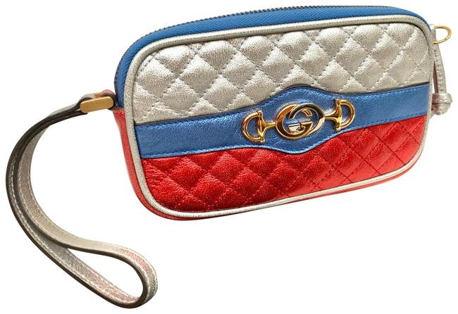 Item - Gg Phone Red Leather Wristlet