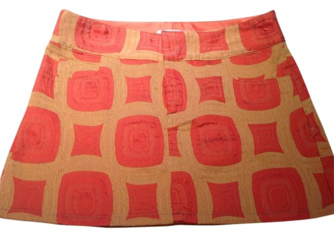 Item - Orange and Beige Skirt Size 2 (XS, 26)