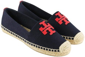 Tory Burch Espadrille Weston Canvas Red navy Wedges