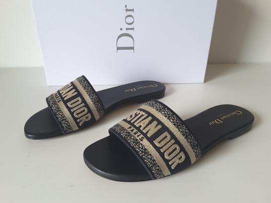 Dior Sliders Deep Blue Mules Image 2