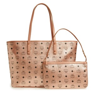 MCM Tote in Champagne Gold