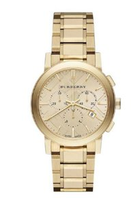 Burberry New Burberry Luxury Gold Unisex The City Chronograph Watch BU9753