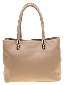 Cole Haan Leather Tote in Beige