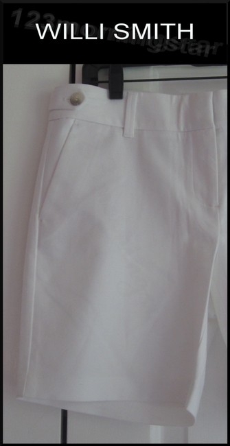 Willi Smith Buttoned Tabs Belt Loops Relaxed Fit Slant Pockets Welt Back Pockets Dress Shorts White Image 1