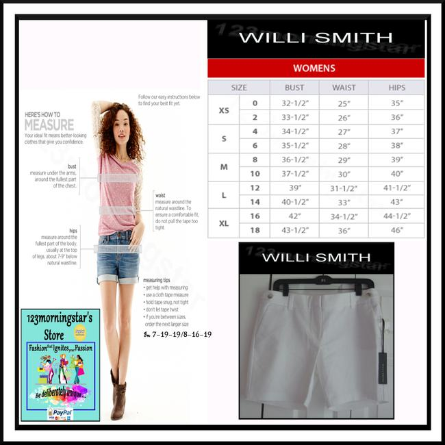 Willi Smith Buttoned Tabs Belt Loops Relaxed Fit Slant Pockets Welt Back Pockets Dress Shorts White Image 11