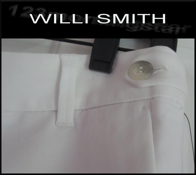 Willi Smith Buttoned Tabs Belt Loops Relaxed Fit Slant Pockets Welt Back Pockets Dress Shorts White Image 2