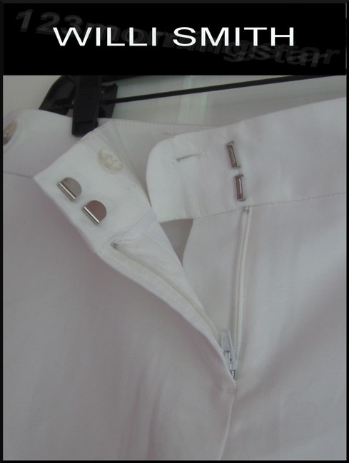 Willi Smith Buttoned Tabs Belt Loops Relaxed Fit Slant Pockets Welt Back Pockets Dress Shorts White Image 3