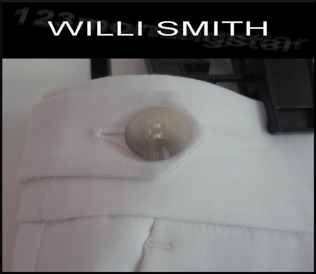 Willi Smith Buttoned Tabs Belt Loops Relaxed Fit Slant Pockets Welt Back Pockets Dress Shorts White Image 6