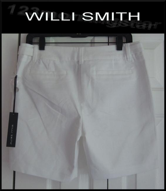 Willi Smith Buttoned Tabs Belt Loops Relaxed Fit Slant Pockets Welt Back Pockets Dress Shorts White Image 7