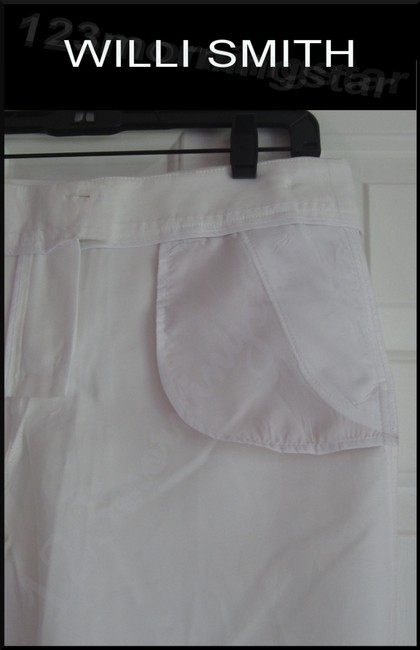 Willi Smith Buttoned Tabs Belt Loops Relaxed Fit Slant Pockets Welt Back Pockets Dress Shorts White Image 9