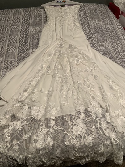Pronovias White Epico Formal Wedding Dress Size 8 (M) Image 1