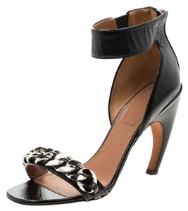Givenchy Leather Chain Detail Black Sandals