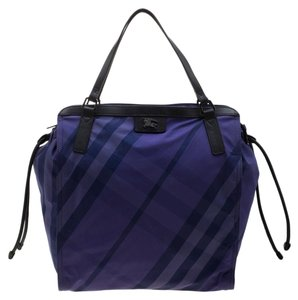Burberry Nylon Packable Tote in Purple