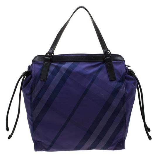Burberry Nylon Packable Tote in Purple Image 1