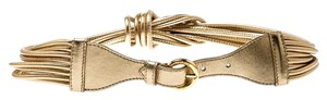 Moschino Moschino Gold Metallic Mutli Strand Leather Belt 85CM