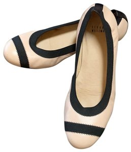 Stuart Weitzman Two Toned Black and Creme Wedges