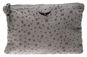 Zadig & Voltaire Leather Grey Clutch