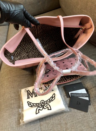 MCM Tote in Soft Pink Image 10