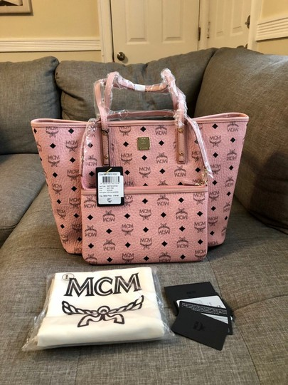 MCM Tote in Soft Pink Image 2