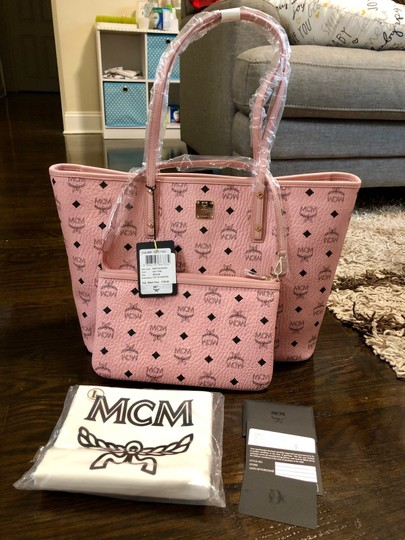 MCM Tote in Soft Pink Image 9