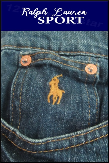Ralph Lauren Mini Silhouette Embroidered Pony 5-pockets Tonal Stitching Faded/Whiskers Denim Shorts Image 6