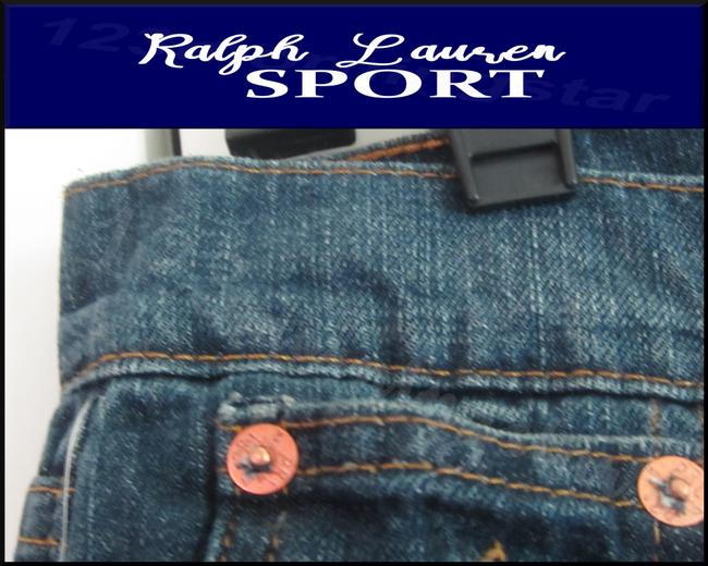 Ralph Lauren Mini Silhouette Embroidered Pony 5-pockets Tonal Stitching Faded/Whiskers Denim Shorts Image 7