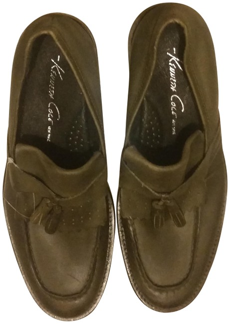 Item - Green Leather Loafers Flats Size US 7.5 Regular (M, B)