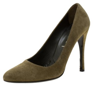 Prada Suede Green Pumps
