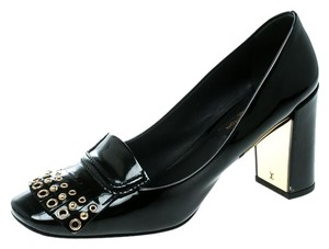 Louis Vuitton Patent Leather Detail Black Pumps