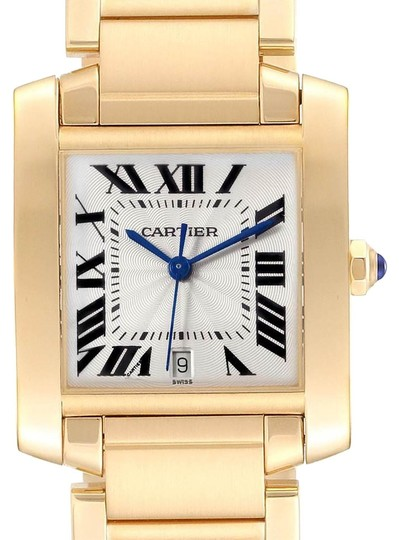 Preload https://img-static.tradesy.com/item/25892105/cartier-silver-box-tank-francaise-large-yellow-gold-unisex-w50001r2-pap-watch-0-2-540-540.jpg