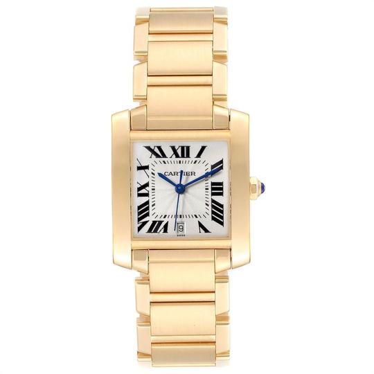Cartier Cartier Tank Francaise Large Yellow Gold Unisex Watch W50001R2 Box Pap Image 1