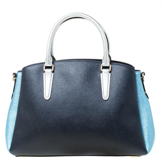 Coach Leather Fabric Satchel in Blue Image 1