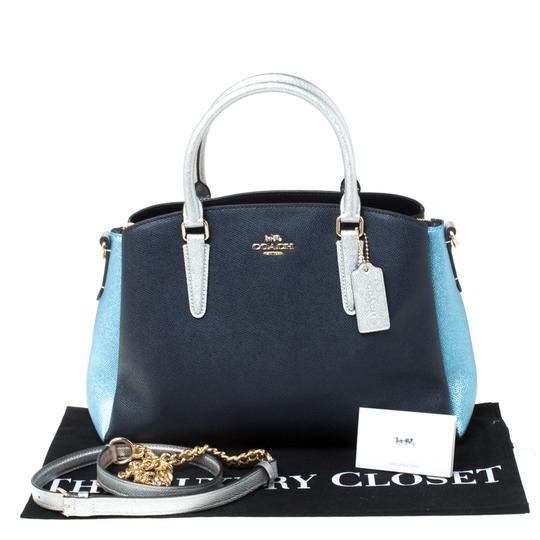Coach Leather Fabric Satchel in Blue Image 10