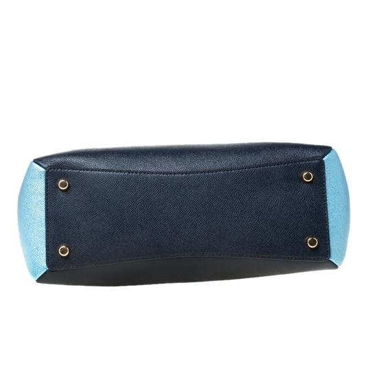 Coach Leather Fabric Satchel in Blue Image 3