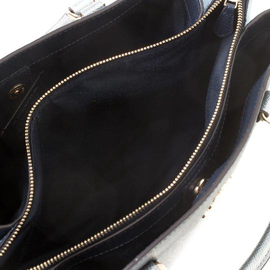 Coach Leather Fabric Satchel in Blue Image 6