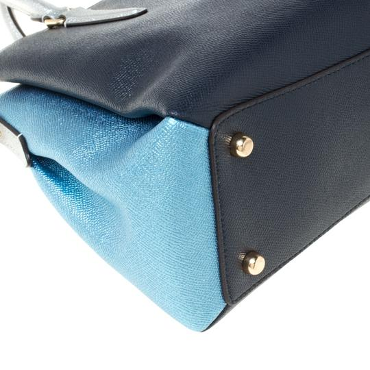 Coach Leather Fabric Satchel in Blue Image 7
