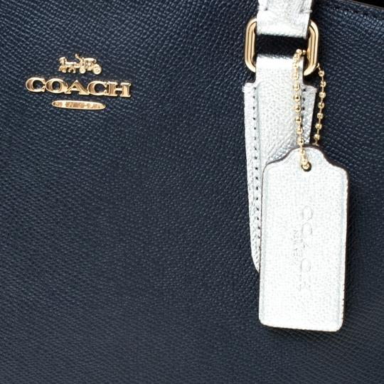 Coach Leather Fabric Satchel in Blue Image 9