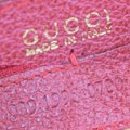 Gucci GUCCI Bamboo Long Zipper Wallet Shoulder Hand Bag Suede Leather Red Image 10