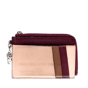 Dior Multicolor Leather Zipped Card Holder