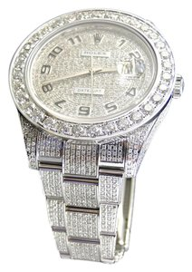 Rolex Iced Out Mens New Rolex Date Just II 2 Flooded Genuine Diamonds 45mm