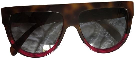 Preload https://img-static.tradesy.com/item/25892338/celine-brown-flattop-two-tone-shield-sunglasses-0-1-540-540.jpg
