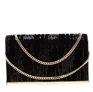 Diane von Furstenberg Embellished Suede Leather Chain Shoulder Bag