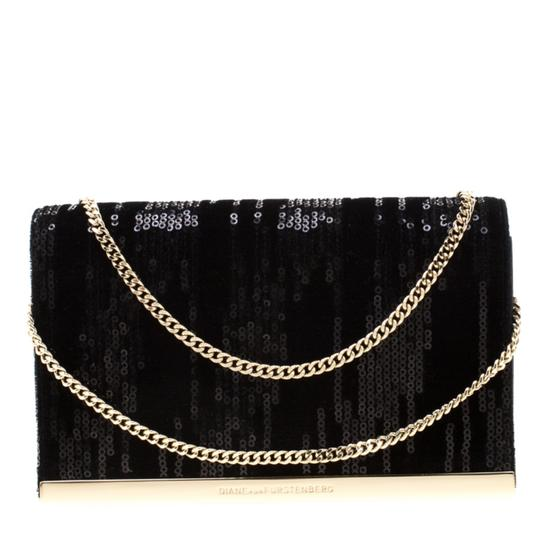 Preload https://img-static.tradesy.com/item/25892343/diane-von-furstenberg-chain-sequins-embellished-suede-and-soiree-black-leather-shoulder-bag-0-0-540-540.jpg
