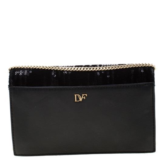 Diane von Furstenberg Embellished Suede Leather Chain Shoulder Bag Image 1